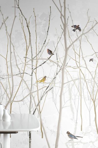 Natuurlijk behang vogel.jpg1 - Grijs Groen Behang