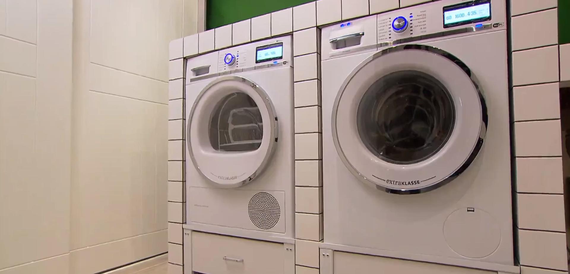 meubel voor de wasmachine en droger maken voordemakersnl