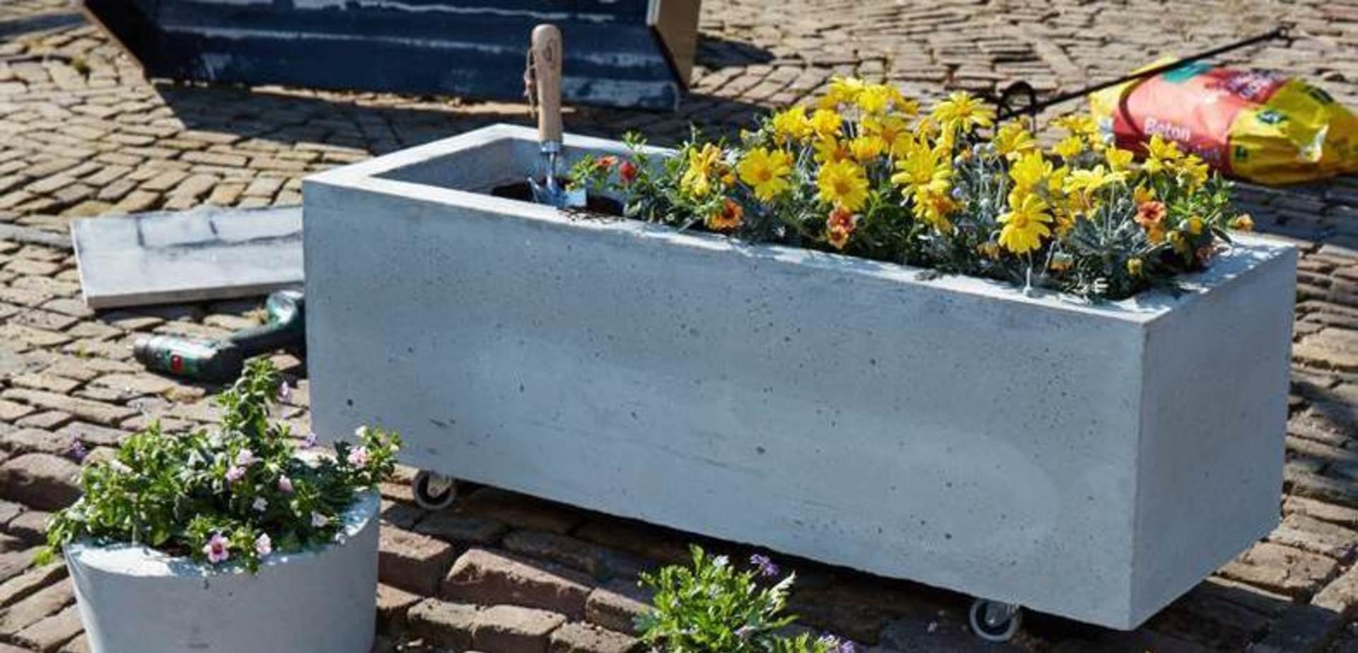 Plantenbak van beton maken - Construire jardiniere beton ...