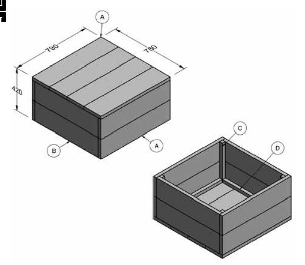 Bouwtekening houten kist for Bouwtekening tafel