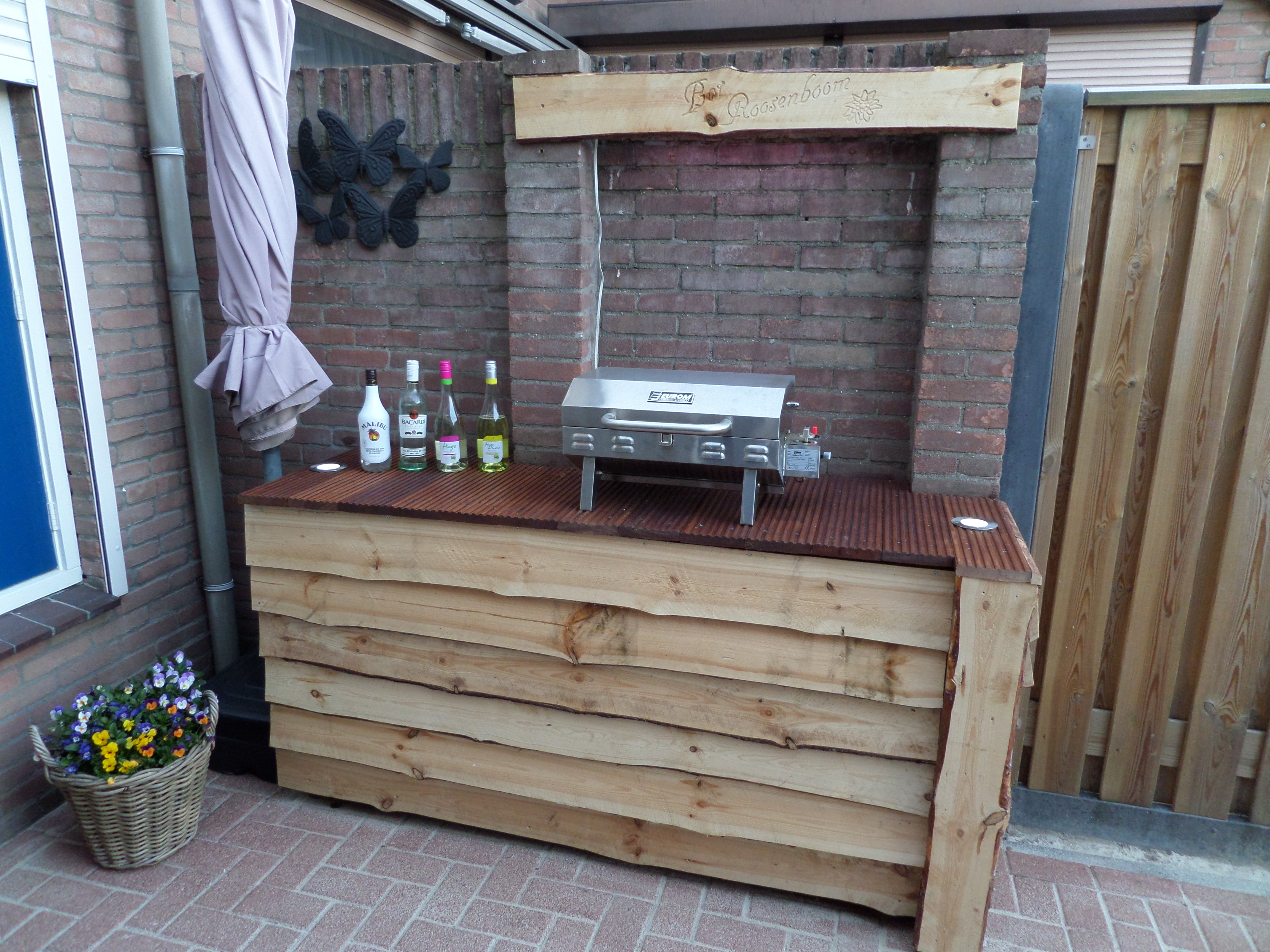 Steigerhout Bar Keuken : Tuin bar maken bar maken in huis u geïmpregneerd hout beitsen