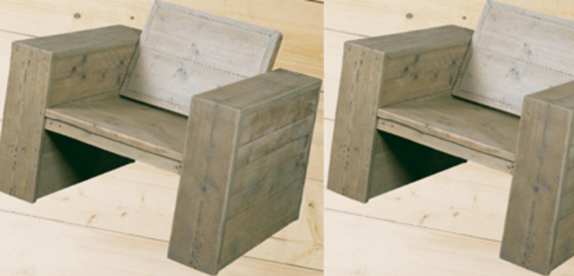 Stoel van steigerhout maken for Steigerhout praxis