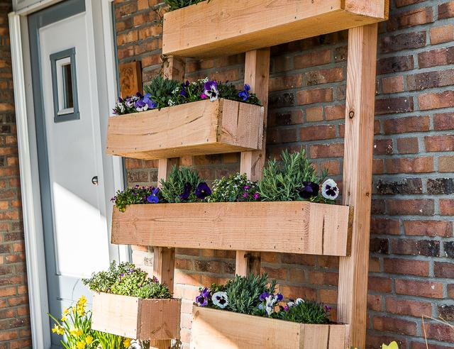 Verticale tuin maken for Foto op hout maken eigen huis en tuin