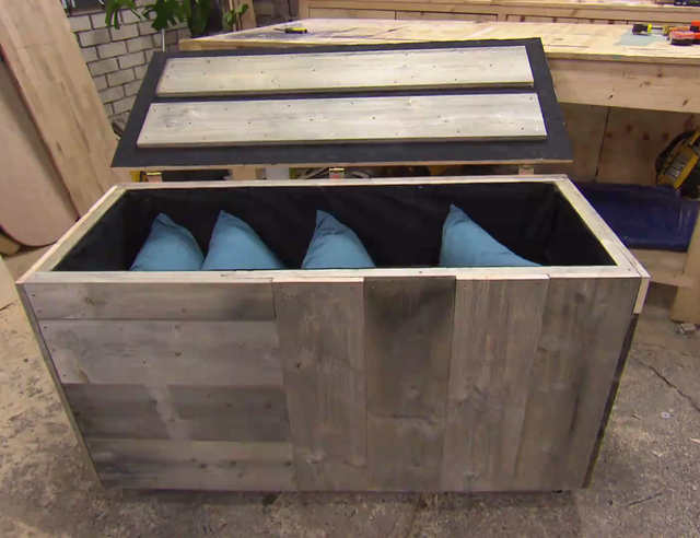 Kussen opbergbox groot excellent tuinkist pandora zonder gasveren