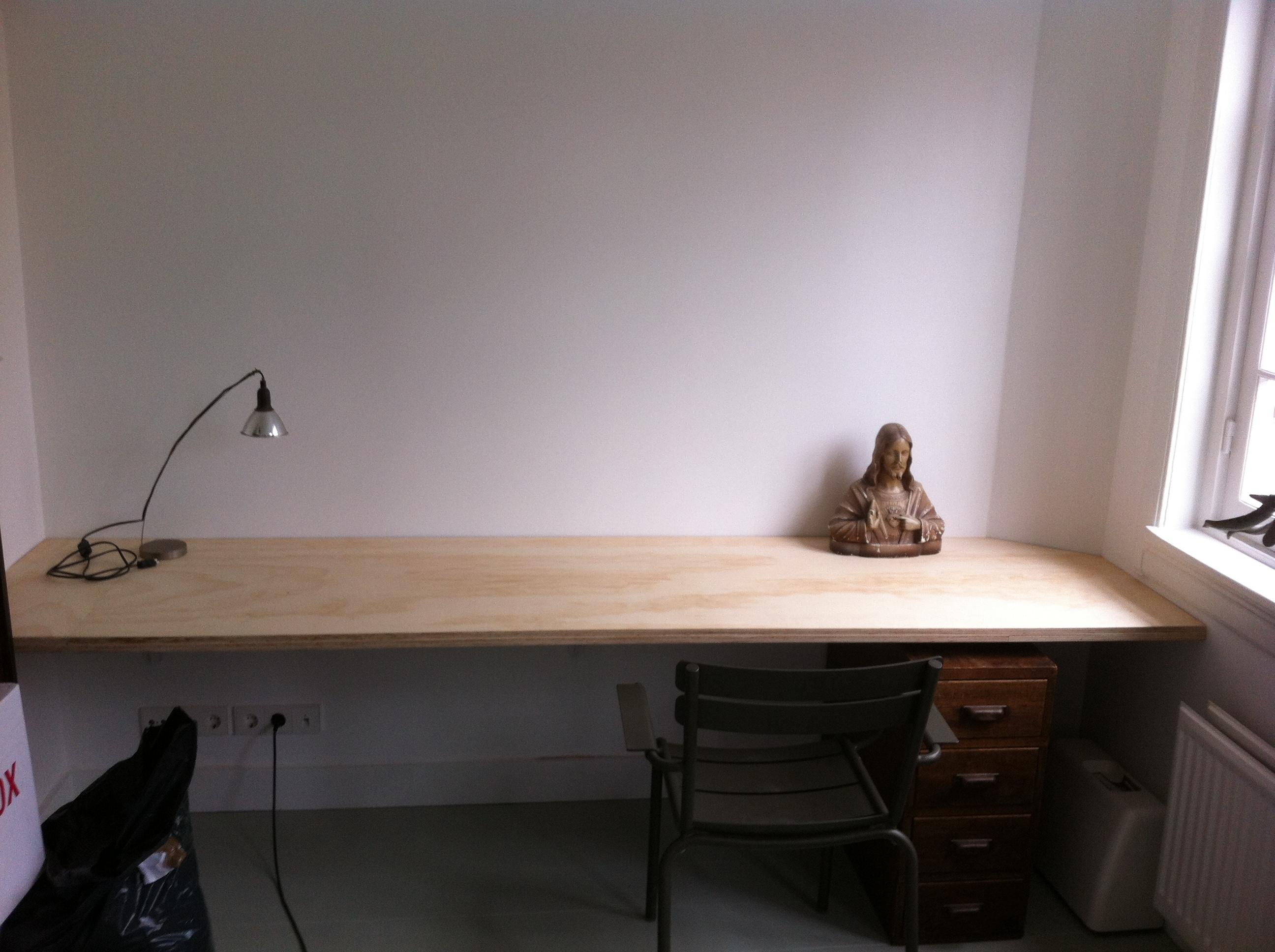 Wand maken multiplex - S van de bureau ...