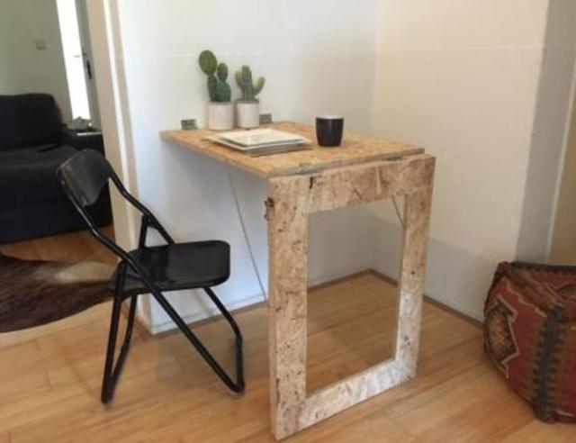 Inklapbare tafel aan muur maken archidev