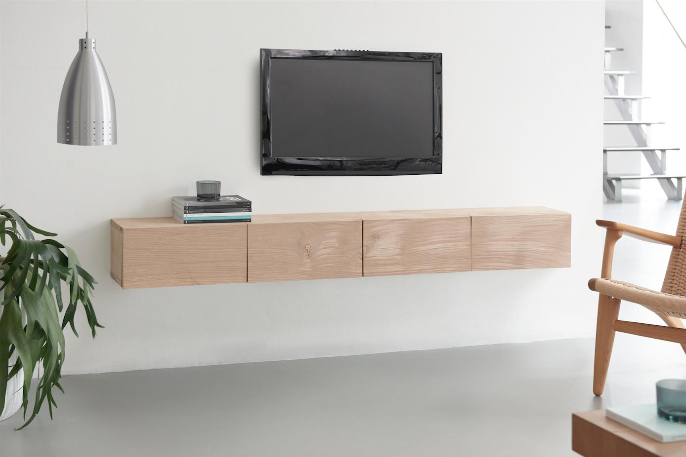 maak een designer tv meubel van eikenhout. Black Bedroom Furniture Sets. Home Design Ideas