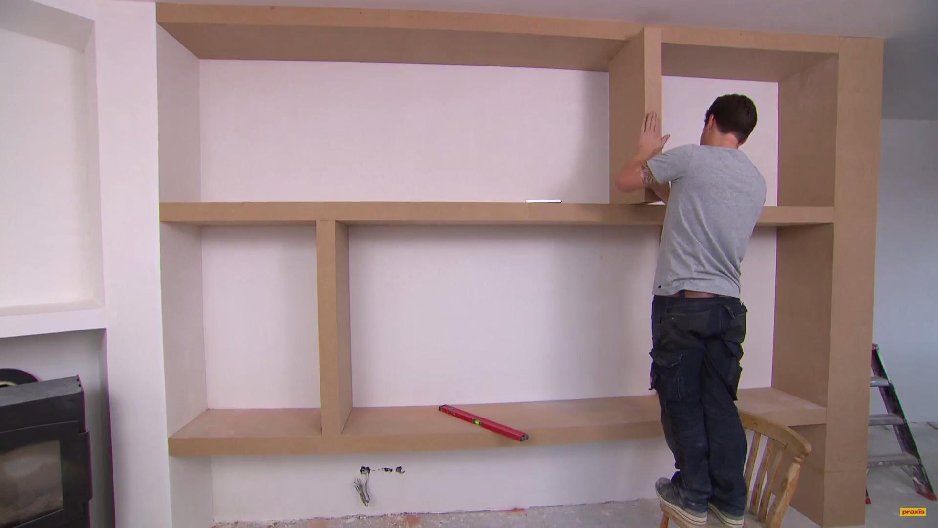 Wandkast maken vakkenkast - Planken maken in een kast ...