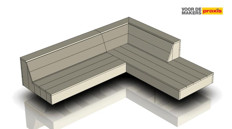 Een zwevende loungebank maken uit steigerhout   voordemakers nl