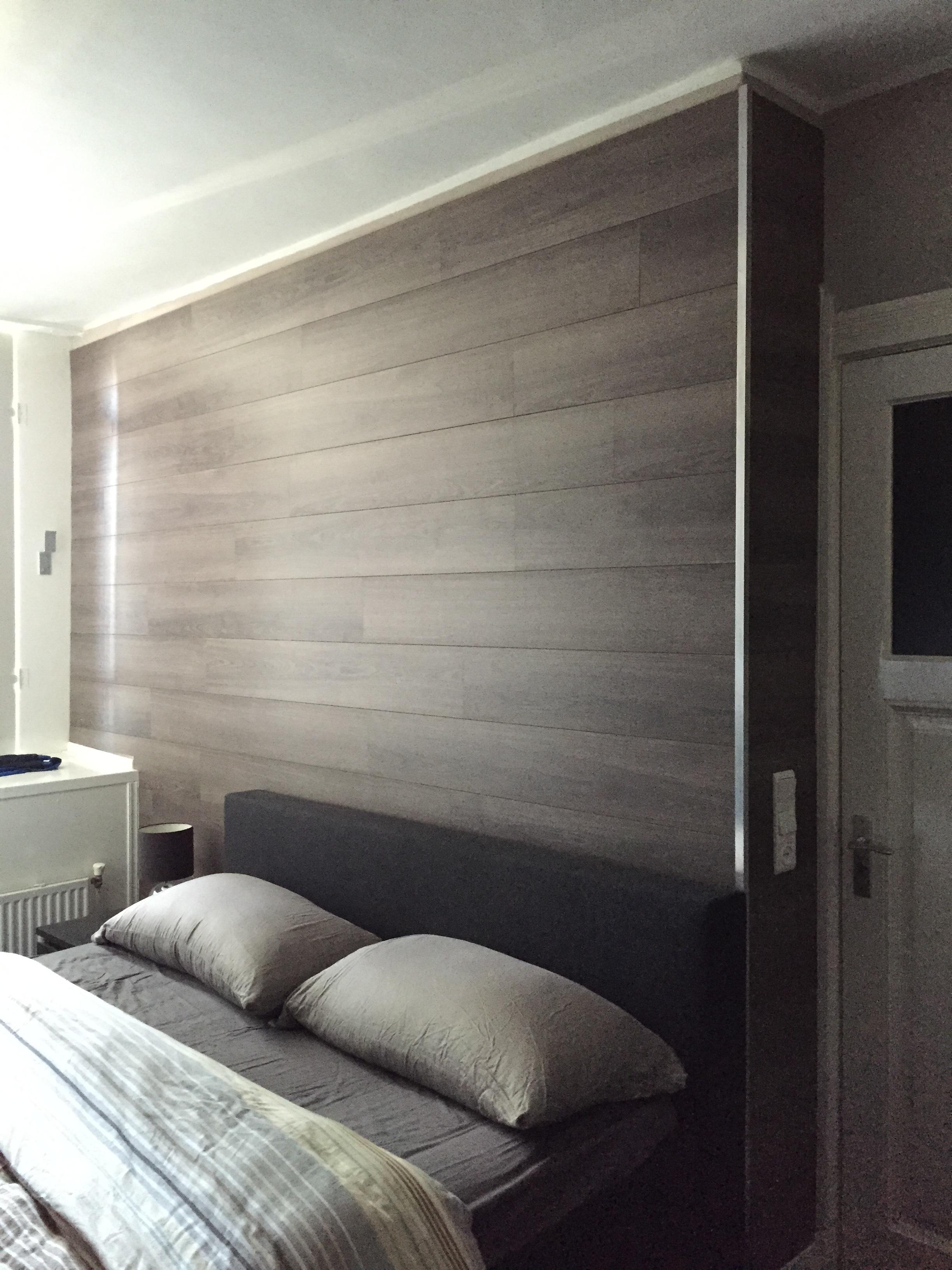 Laminaat op de muur for Bed in de muur
